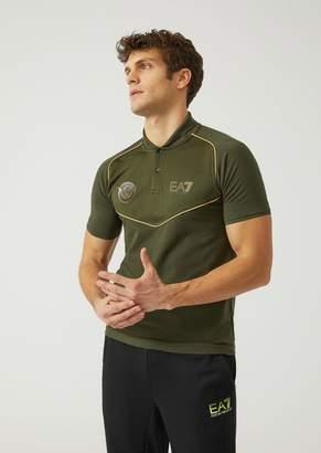 Emporio Armani Ea7 Polo Shirt In Cotton Blend