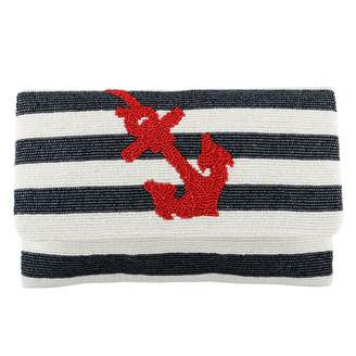 Tiana Designs Tiana Large Striped Anchor Clutch