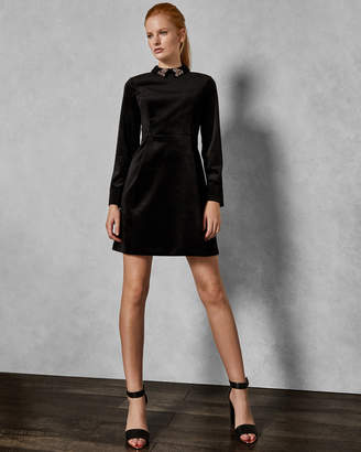 Ted Baker ALAVA Velvet embellished dress