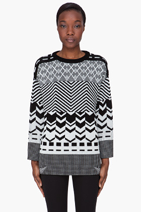 Opening Ceremony Oversize Contrast Fairisle Sweater
