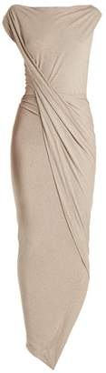 Vivienne Westwood Vian Draped Front Jersey Dress - Womens - Beige