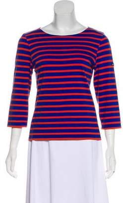 Saint James Striped Three-Quarter-Sleeve T-Shirt