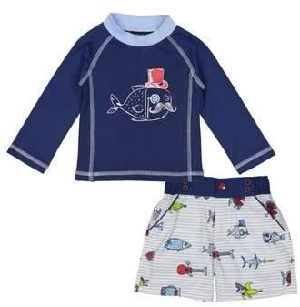Fish Two-Piece Rashguard Swimsuit