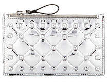Valentino Rockstud Spike Coin Purse/Card Case