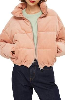 Topshop Corduroy Puffer Jacket
