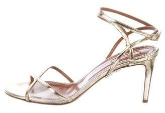Aquazzura Metallic Patent Sandals
