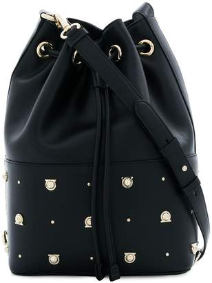 Salvatore Ferragamo Gancio studded bucket bag