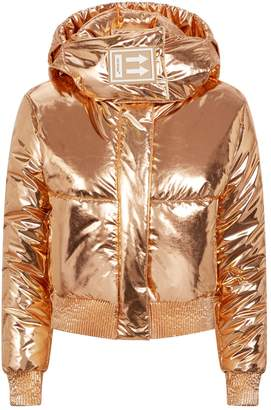 Off-White Off White Metallic Cropped Puffer Jacket