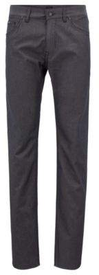 BOSS Hugo Regular-fit jeans in two-tone stretch denim 38/32 Black