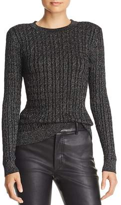 Milly Shimmer Cable Sweater