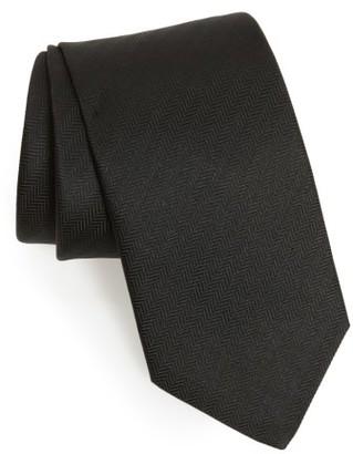 Men's Eton Herringbone Textured Silk Tie $145 thestylecure.com