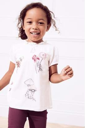 Next Girls Ecru Embroidered Blouse (3mths-6yrs)