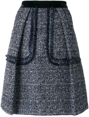 Talbot Runhof sequinned tweed skirt