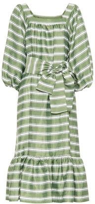 Lisa Marie Fernandez Laure striped midi dress