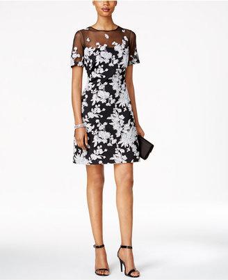 Tadashi Shoji Floral-Print Illusion A-line Dress $338 thestylecure.com