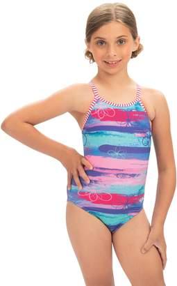 Dolfin Uglies Girls' Surf's Up Keyhole Back 1-Piece Swimsuit