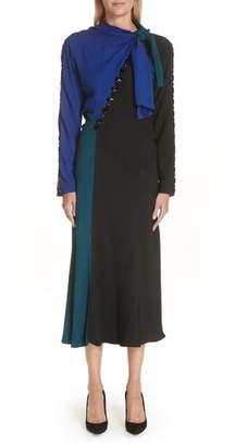 Marc Jacobs Tie Neck Colorblock Dress