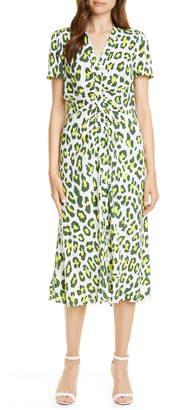 Diane von Furstenberg Cecilia Summer Leopard Print Midi Dress