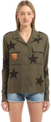 Amiri Embellished Stars Printed Military Shirt