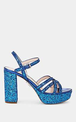 e6c8014210a Miu Miu Women s Glitter   Leather Multi-Strap Platform Sandals - Bluette
