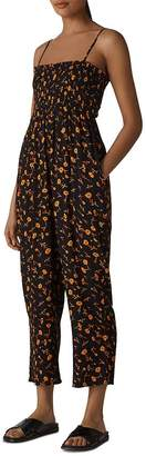 Whistles Aster Floral Textured Jumpsuit