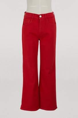3x1 3 X 1 W4 Shelter wideleg crop jeans