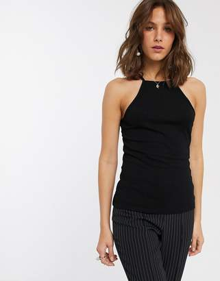 Asos Cami with Square Neck in Fitted Rib