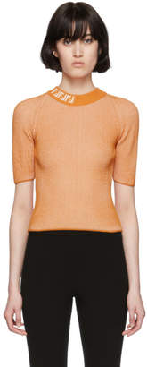 Fendi Orange Forever Cross Stream Sweater