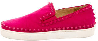 Christian Louboutin My Love Slip-On Sneakers $525 thestylecure.com
