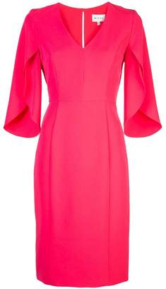 Milly v-neck fitted dress