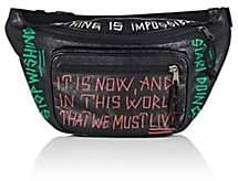Balenciaga Men's Explorer Arena Leather Belt Bag-Black