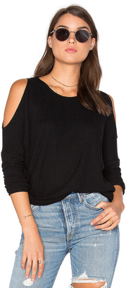 Chaser Cold Shoulder Dolman Thermal Tee $72 thestylecure.com