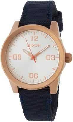 Nixon 36mm G.I. Nylon Watch, Navy