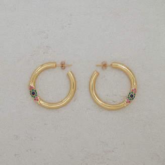 """Maje Hoop earrings """"Eye"""""""