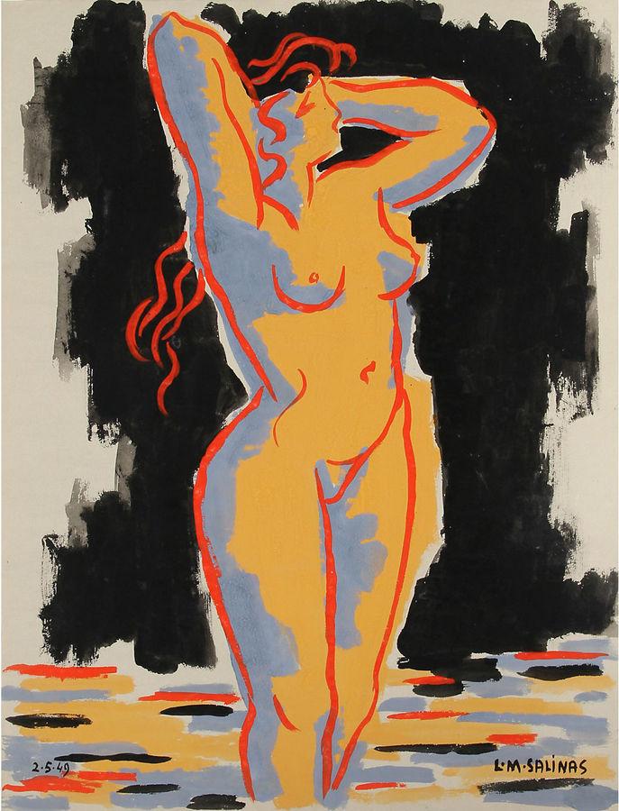 One Kings Lane Vintage Black Nude by Laurent Marcel Salinas