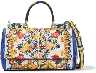Dolce & Gabbana - Sicily Mini Printed Textured-leather Shoulder Bag - White $1,745 thestylecure.com