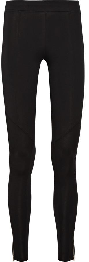 Splendid Zip-detailed cotton-blend leggings