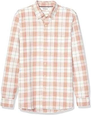 Goodthreads Amazon Brand Men's Slim-Fit Long-Sleeve Pattern Chambray Shirt