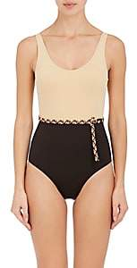 Eres Women's Piet Belted One-Piece Halter Swimsuit-Brown