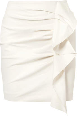 Isabel Marant Lefly Ruffled Cotton-blend Mini Skirt - Ecru
