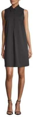 Saks Fifth Avenue BLACK Mini Sleeveless Shirtdress