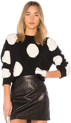 Alice + Olivia Gleeson Polka Dot Sweater