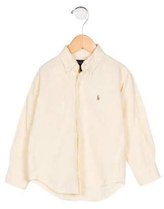 Ralph Lauren Boys' Seersucker Striped Shirt