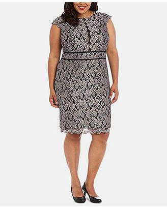 febe1e6f6 Night Way Nightway Plus Size Glitter Lace Sheath Dress