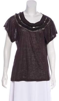 Max Mara Weekend Embellished Short Sleeve Top