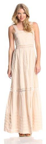 Candela Women's Ami Lace Trim Tiered Dress