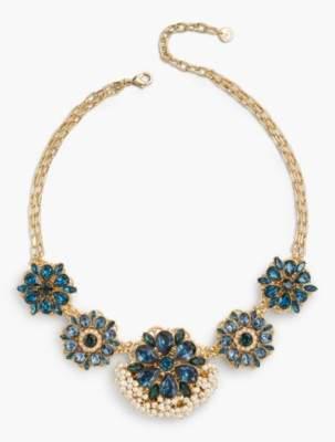 Talbots Flower Statement Necklace