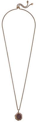Kendra Scott Lizzie Faceted Druzy Pendant Necklace $120 thestylecure.com