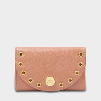 See by Chloe Kriss Compact Wallet in Cheek Grained Leather