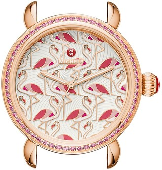 MICHELE Exotic Creatures Flamingo Watch Head, 36mm $995 thestylecure.com